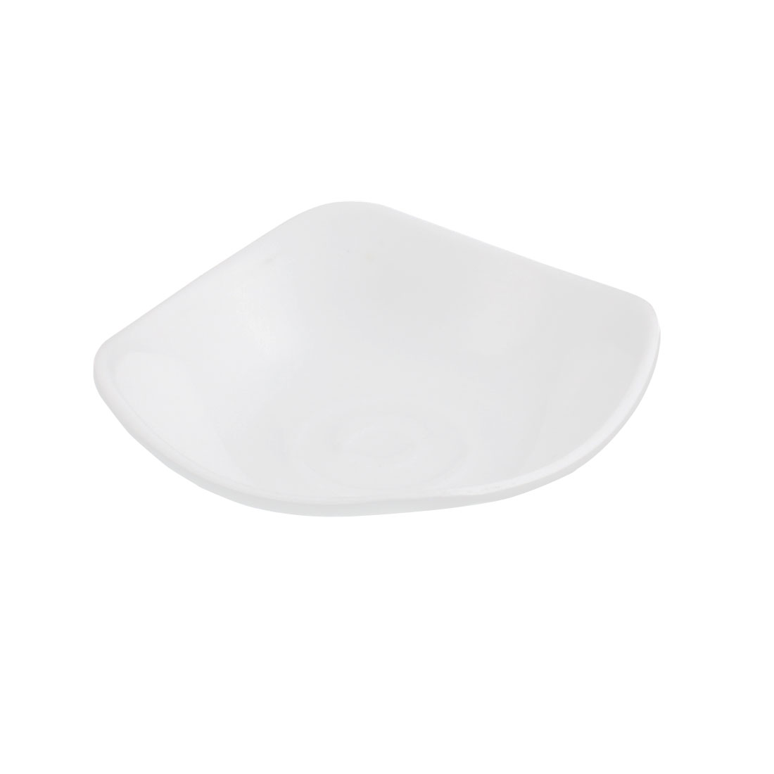 Plastic Square Shape Soy Sauce Dipping Sushi Dish Plate White