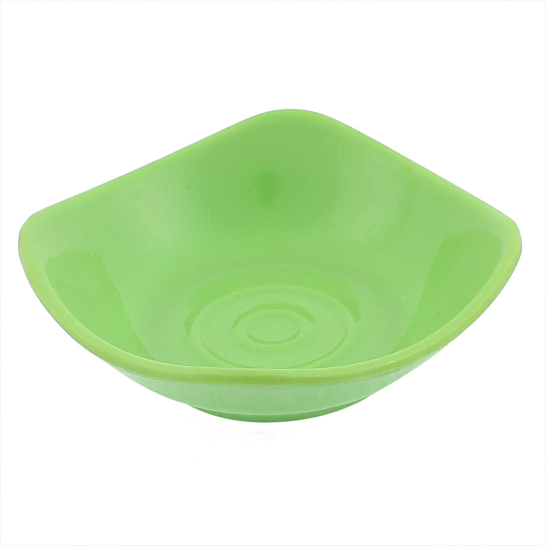 Plastic Square Shape Soy Sauce Dipping Sushi Dish Plate Green