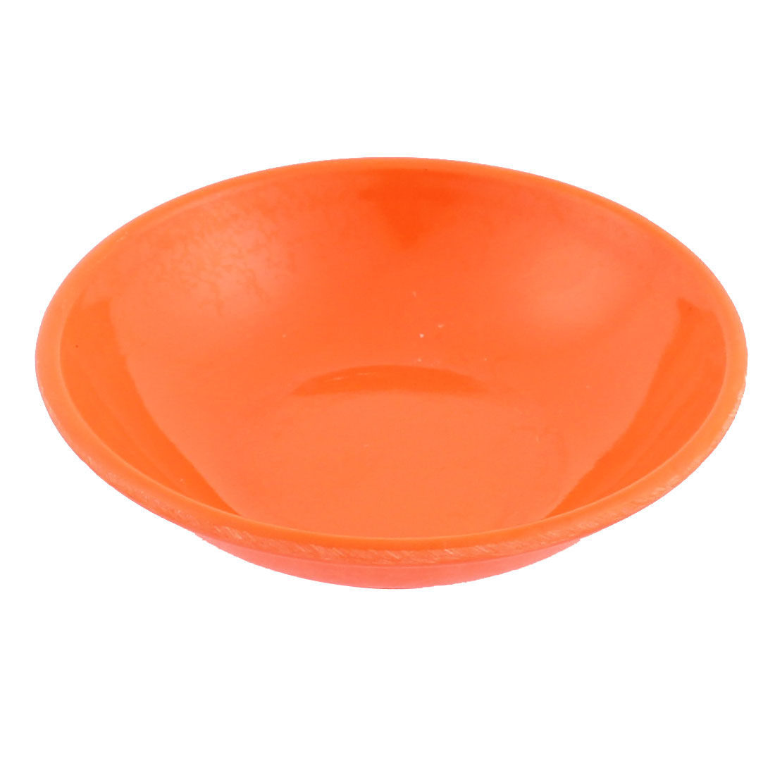 Kitchen Soy Sauce Wasabi Dipping Plastic Dish Plate Orange