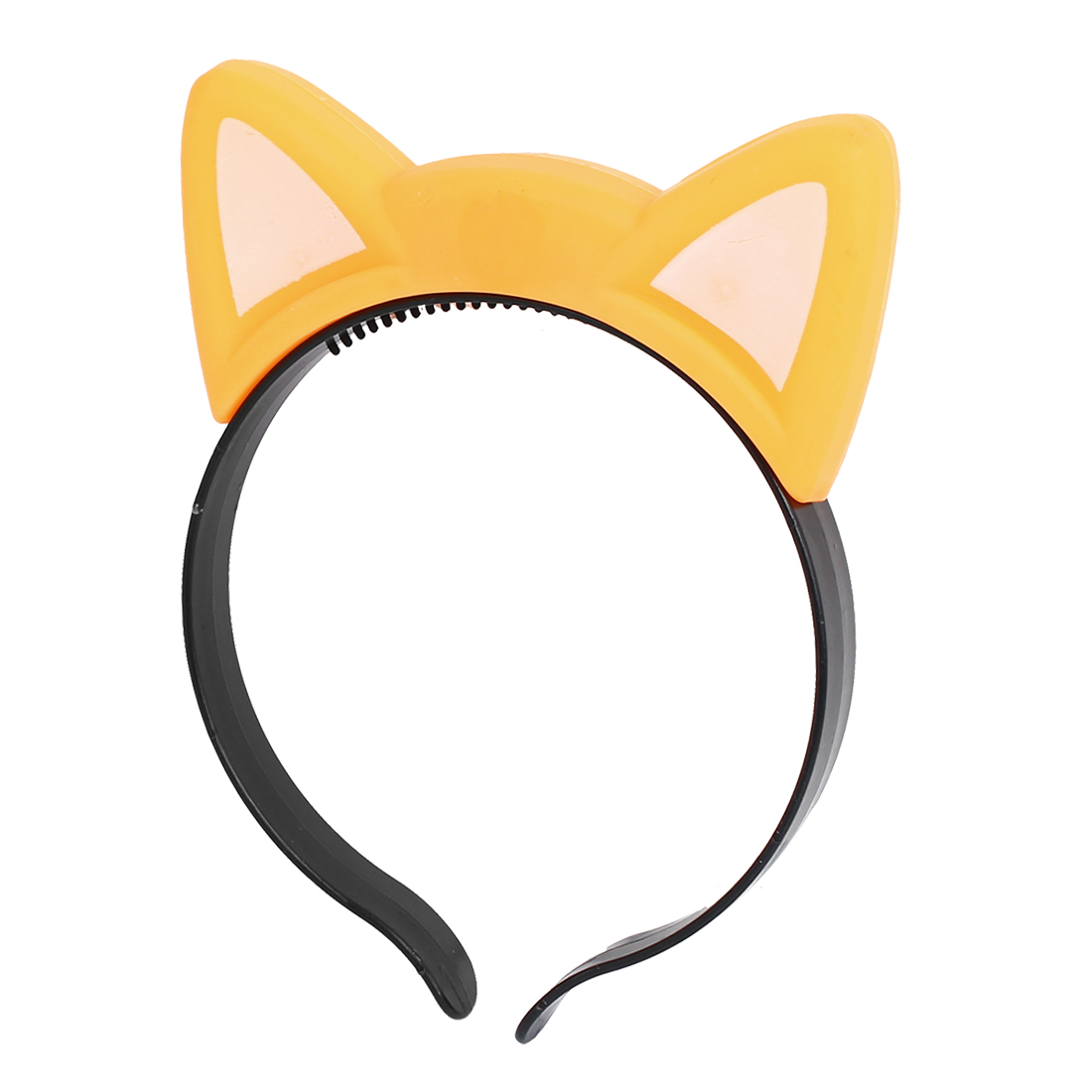 Party Cosplay Flashing LED Cat Ear Design Light Hair Band Hairband Headband Yellow