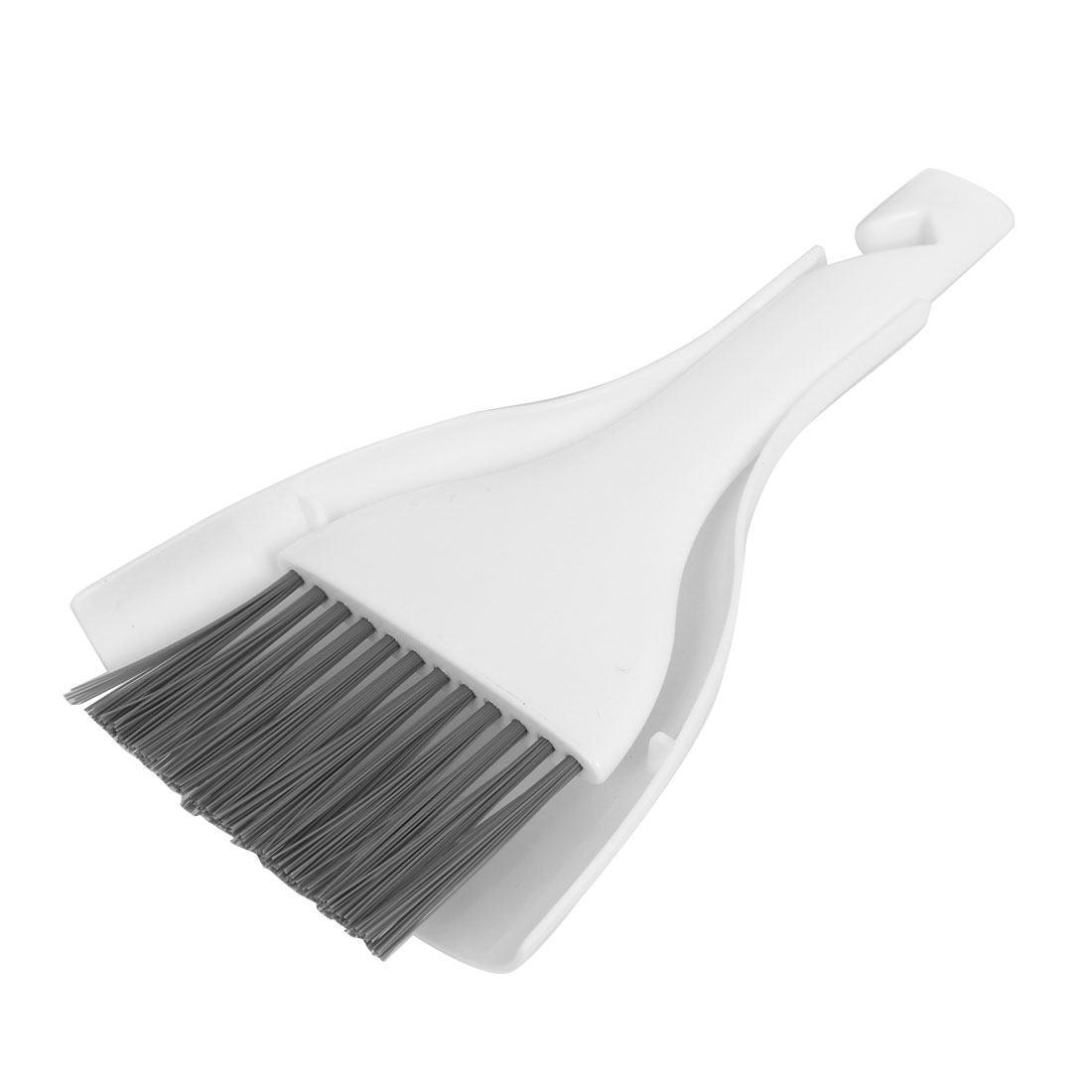 Home Kitchen Dirt Plastic Mini Cleaning Sweeping Brush Dustpan Set White