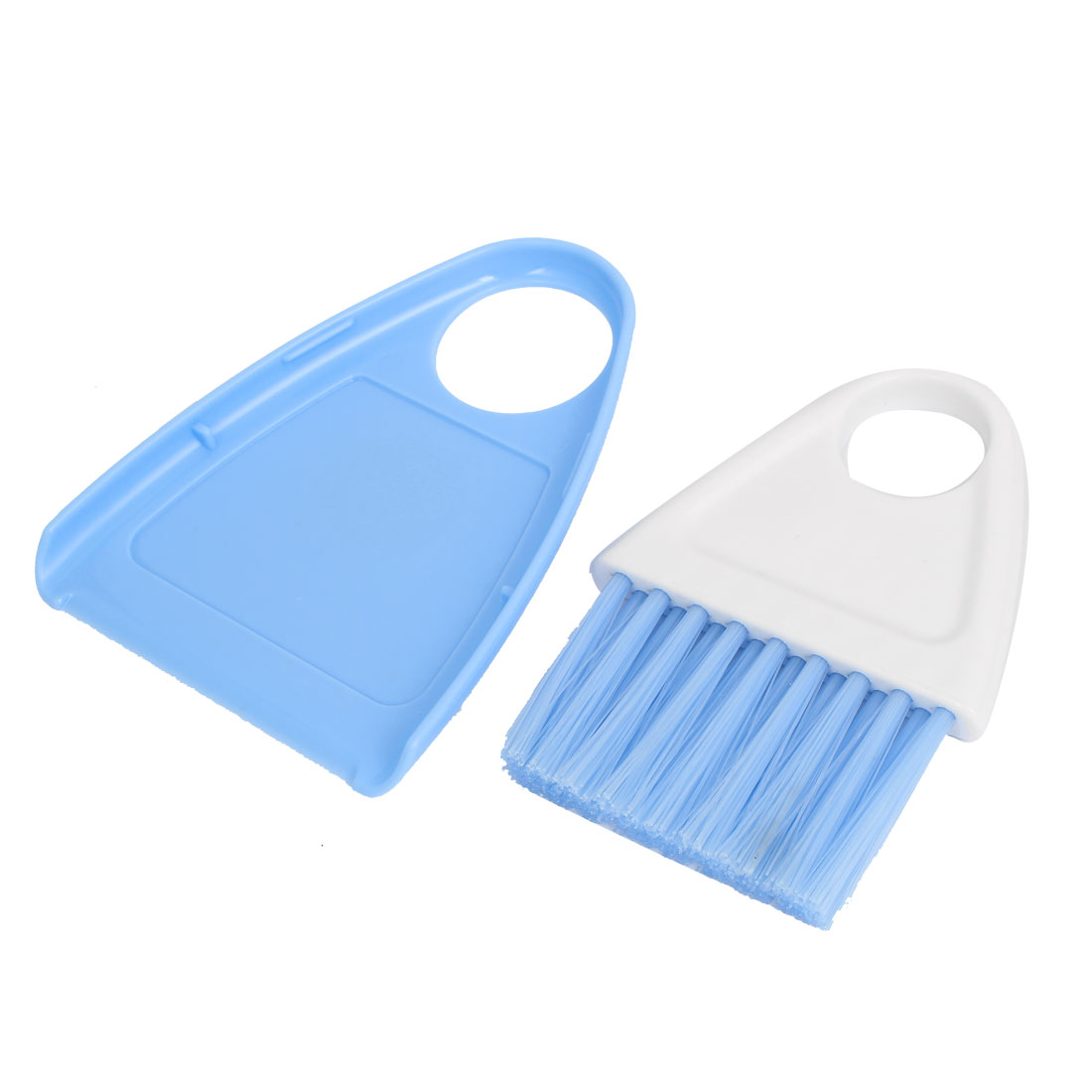Home Kitchen Dirt Plastic Mini Cleaning Sweeping Brush Dustpan Set Blue