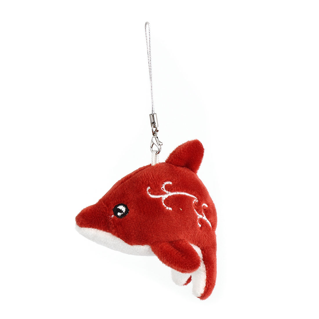 Brown Plush Dolphin Doll Pendant Lobster Clasp Mobile Cell Phone Cord Strap