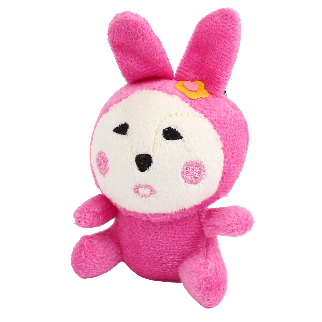 Pink Plush Rabbit Doll Pendant Lobster Clasp Mobile Cell Phone Cord Strap Lariat