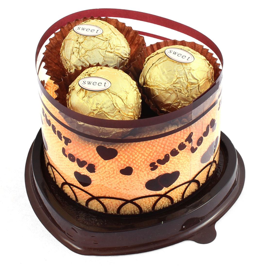 Heart Cake Design Chocolate Decor Wedding Party Gift Washcloth Hand Towel Orange