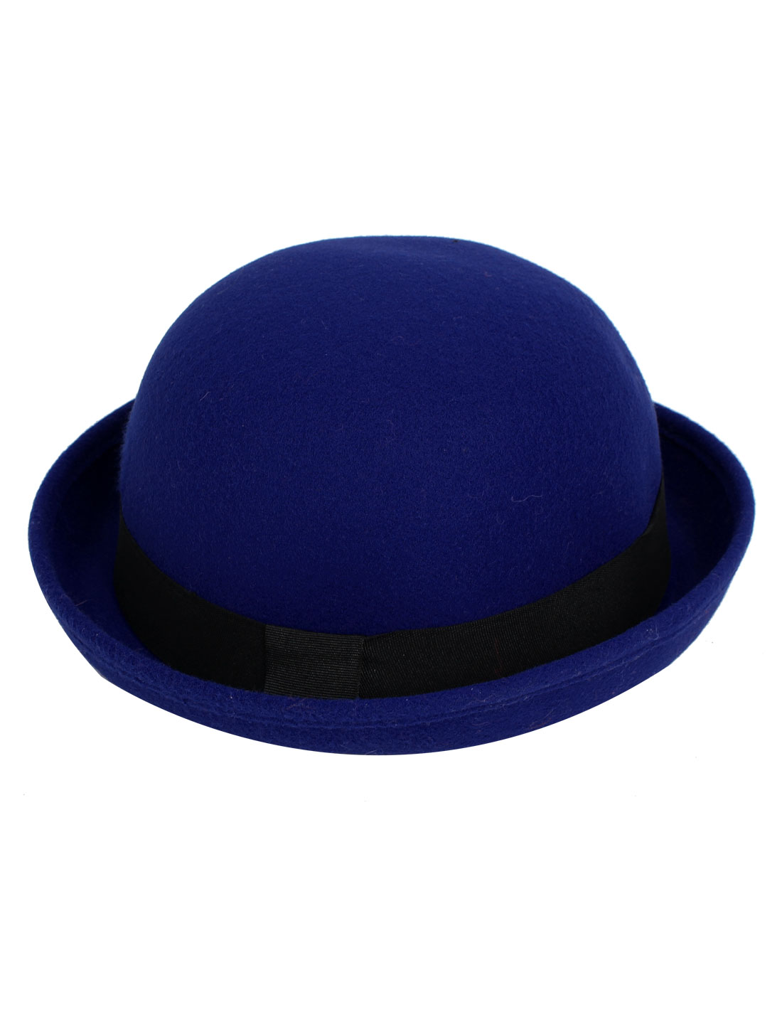 Girl Felt Upturn Brim Wedding Party Winter Warm Bowler Hat Cap Royal Blue
