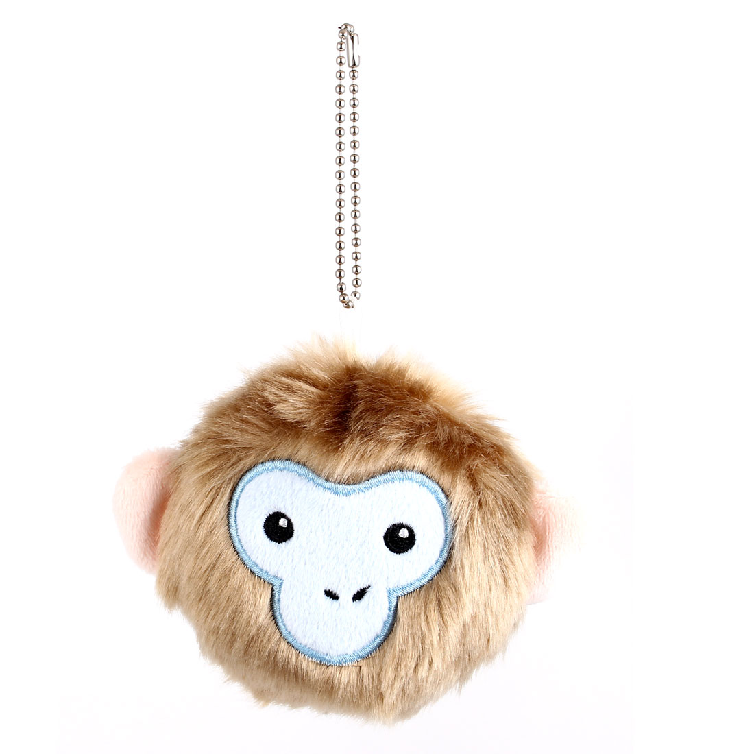 Metal Ball Chain Bag Decoration Hairy Monkey Face Doll Toy Pendant Brown