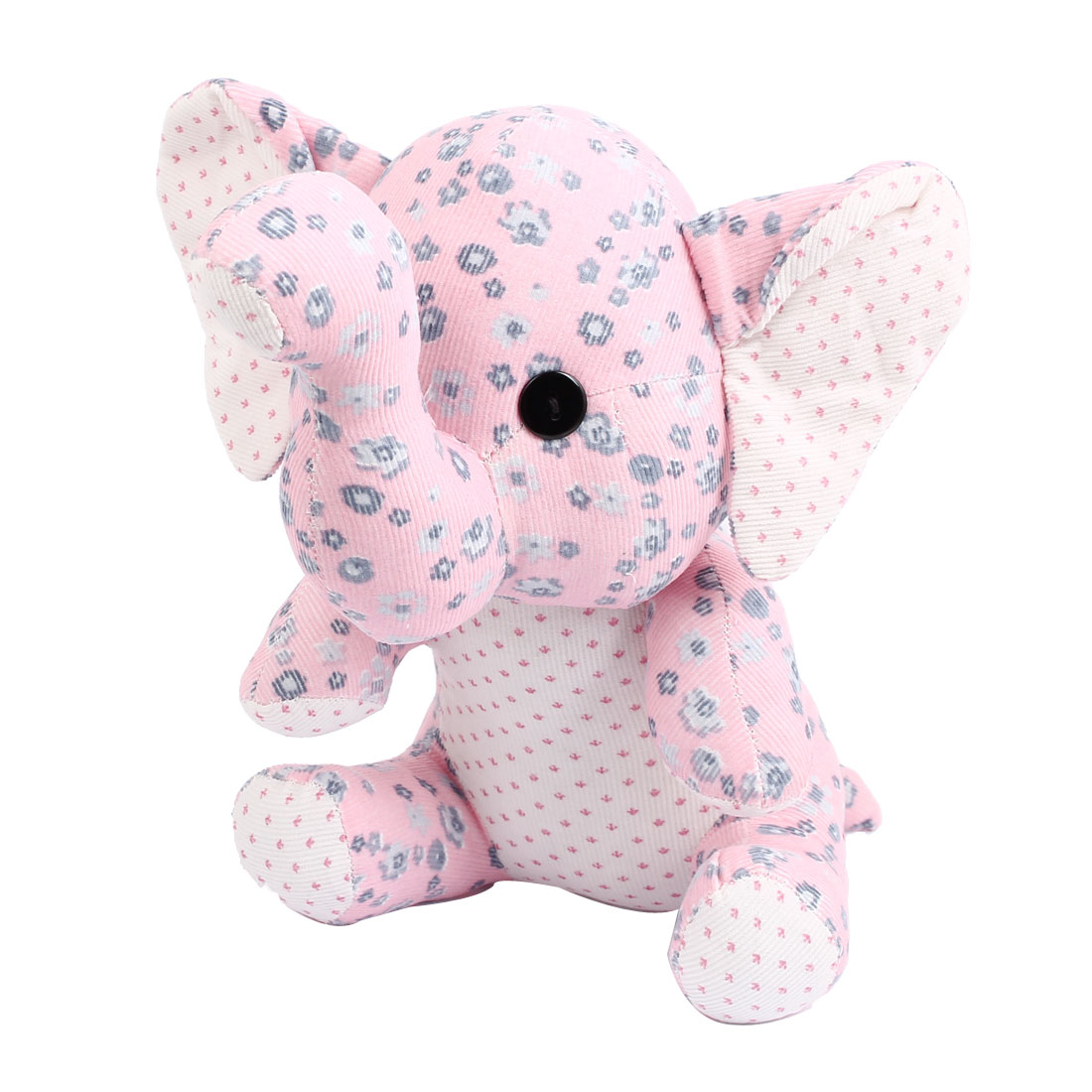 Children Kids Flower Pattern Birthday Party Gift Animal Toy Sitting Elephant Doll Pink