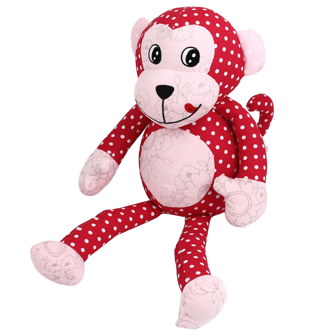 Children Kids Dotted Pattern Birthday Party Gift Animal Toy Monkey Doll Red