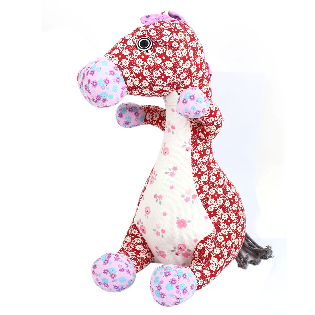 Children Kid Flower Pattern Birthday Party Gift Animal Toy Dragon Horse Doll Red