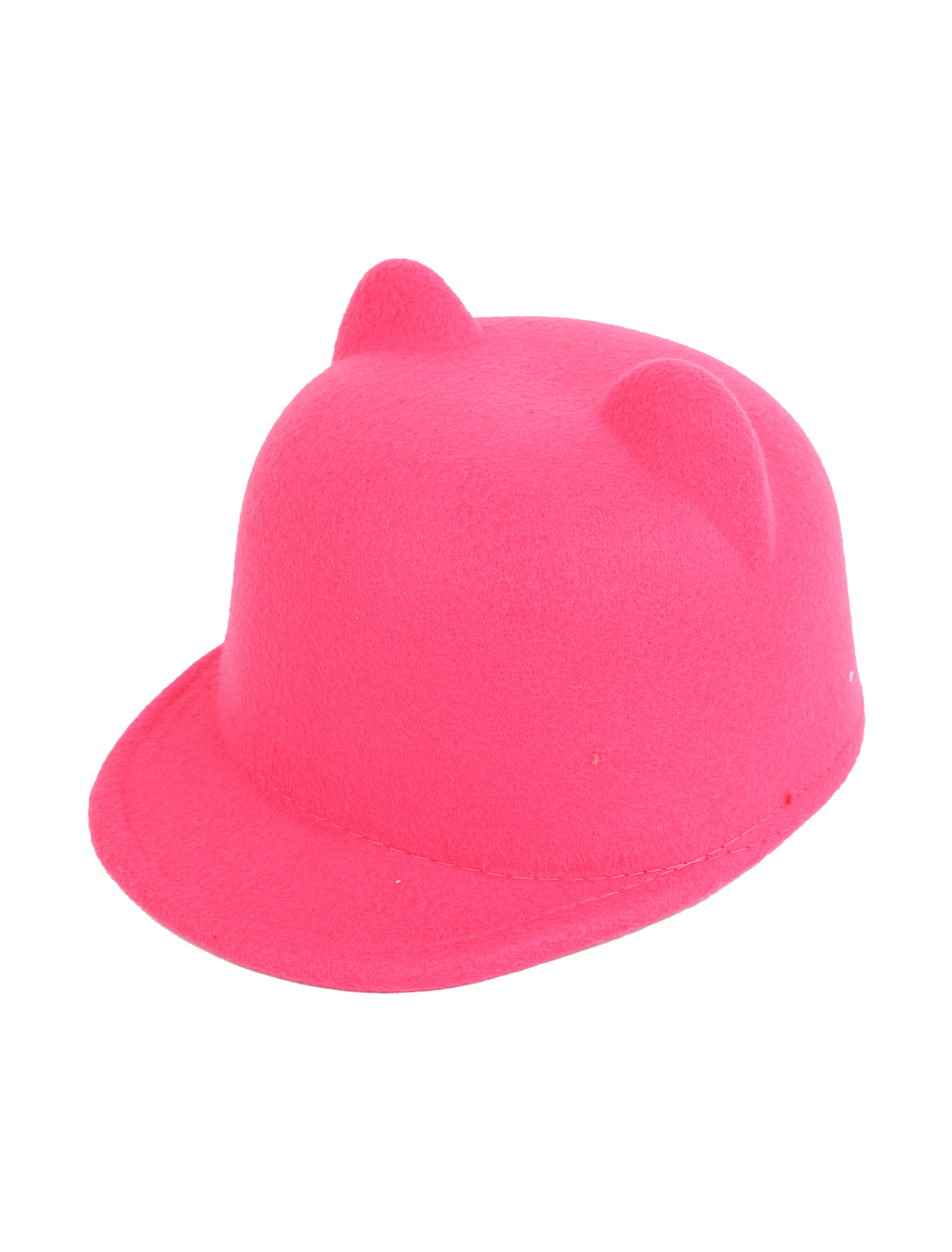 Girl Cat Ear Design Christmas Party Winter Warm Bowler Cap Hat Casquette Pink
