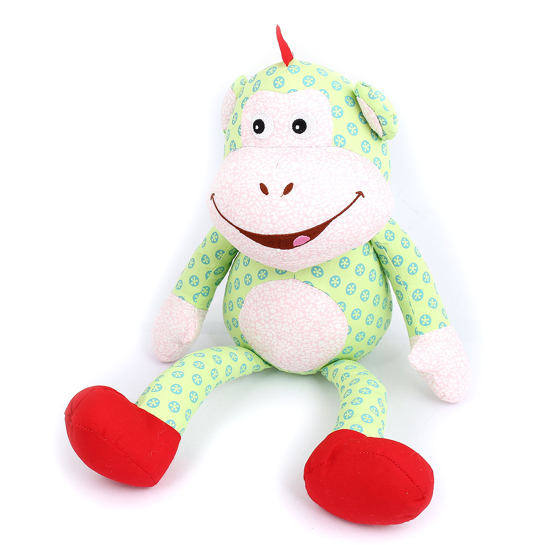 Children Kids Dotted Pattern Birthday Party Gift Animal Toy Monkey Doll Green
