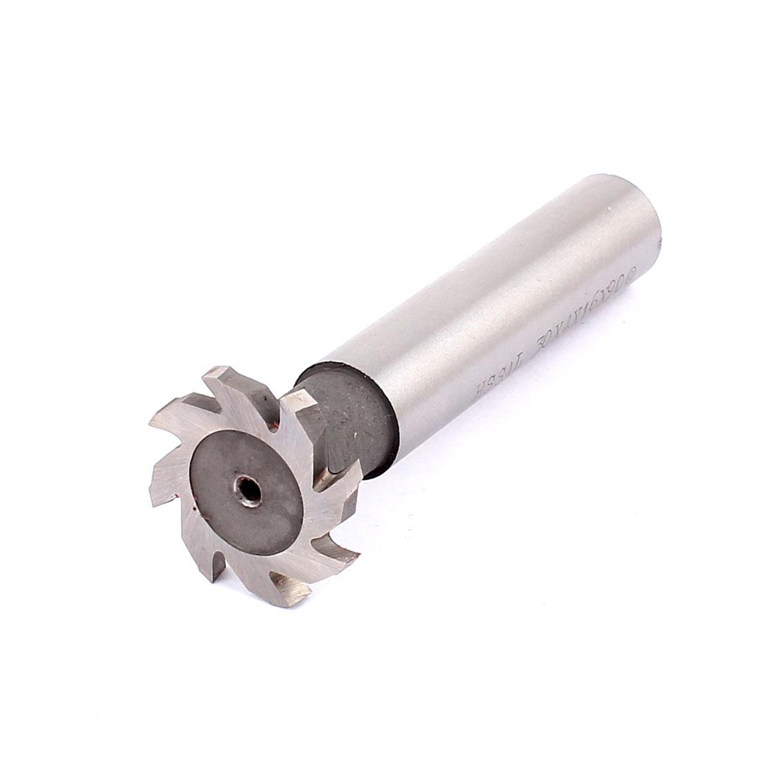30mm Cutting Dia 4mm Depth 8 Flutes HSS-AL T Slot End Mill Milling Cutter