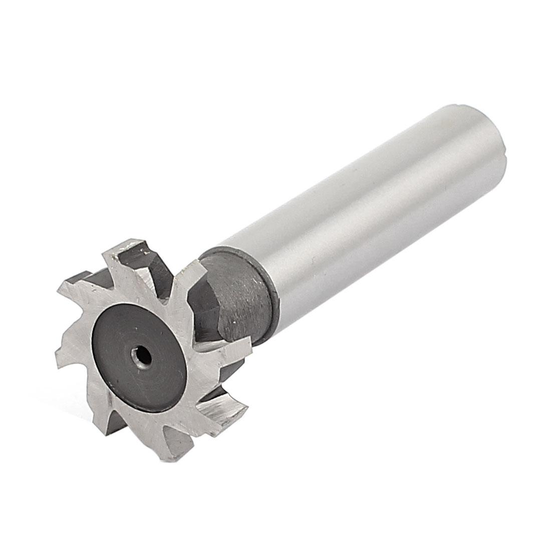 32mm Cutting Dia 6mm Depth HSS-AL 8 Flutes T Slot End Mill Cutter 90mm Long