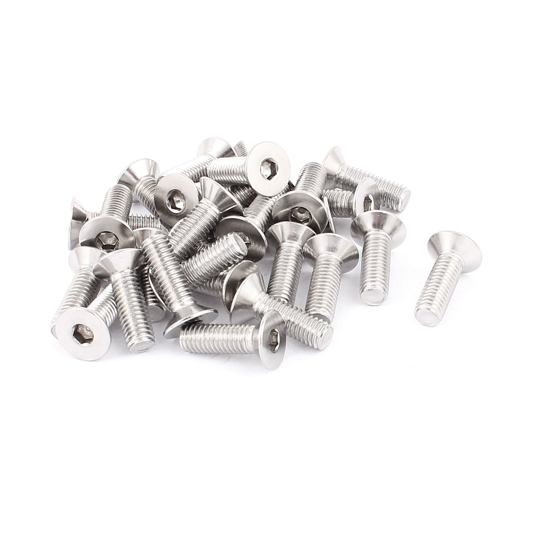 30 Pcs M8 Stainless Steel Countersunk Flat Head Hex Socket Screw Bolt DIN 7991