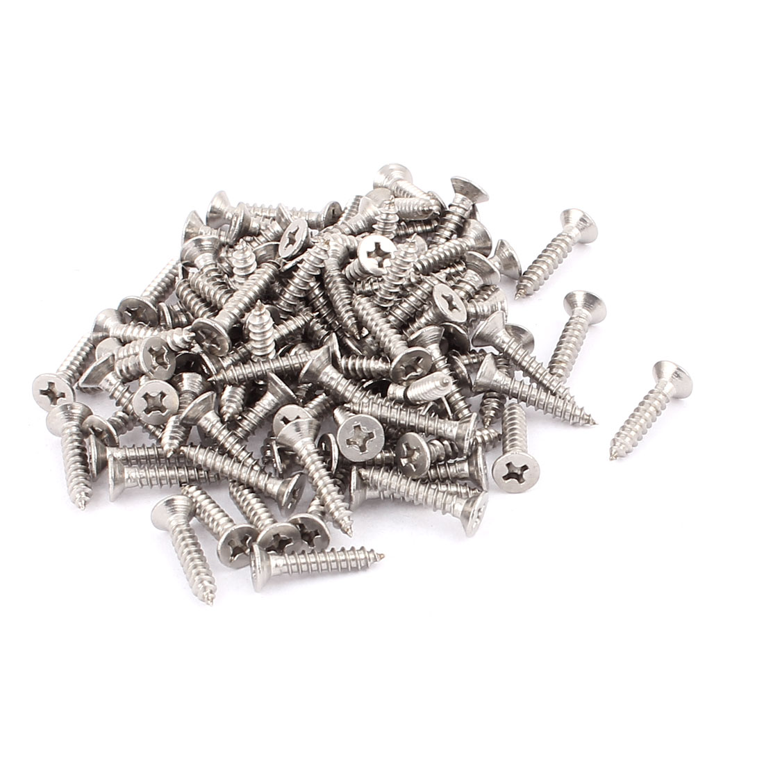 3.5mm x 19mm Countersunk Cross Head Self Tapping Screw Fasteners 100 Pcs