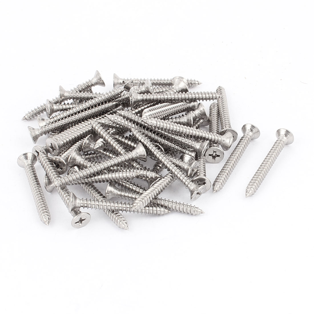 4.2mm x 38mm Countersunk Cross Head Self Tapping Screw Fasteners 50 Pcs