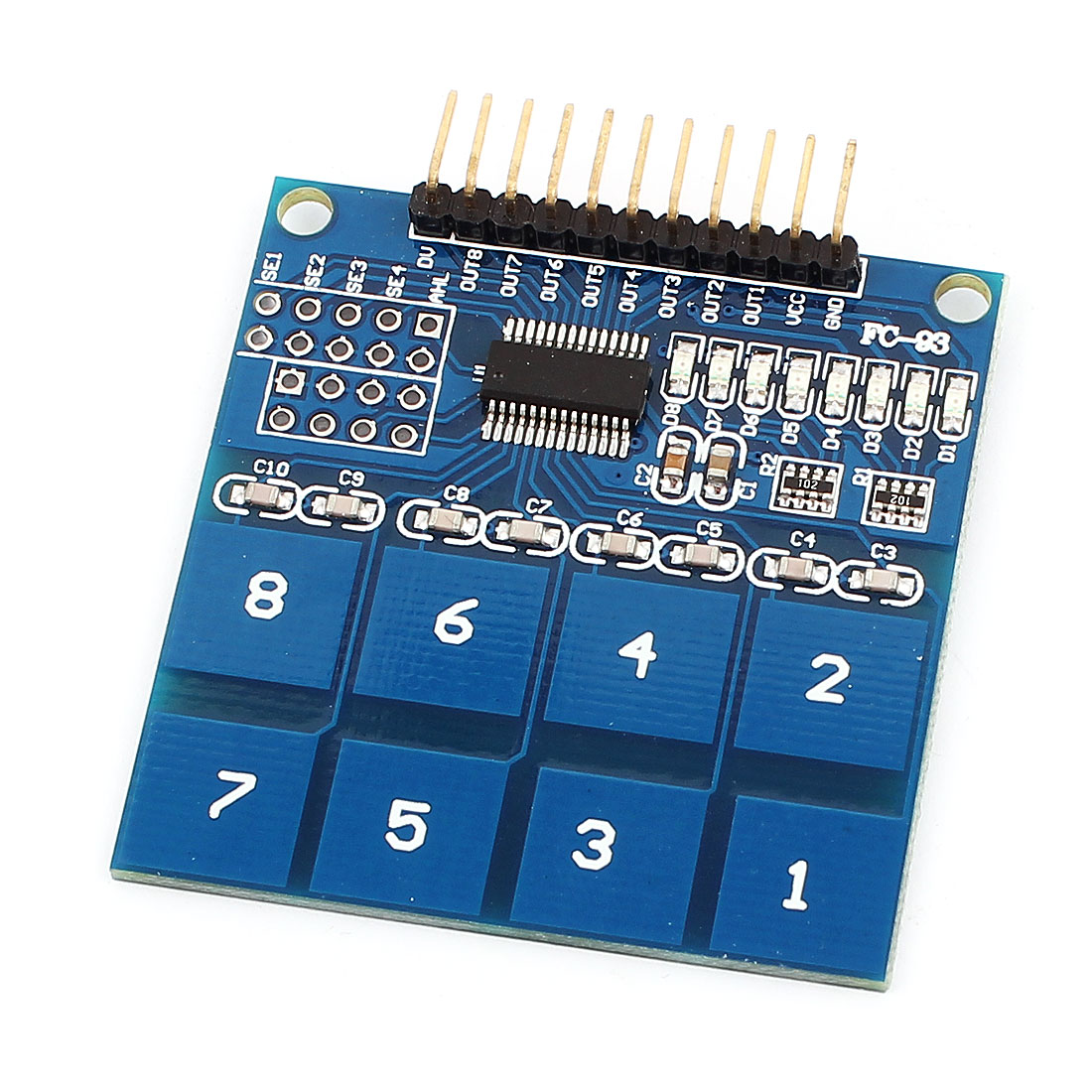 TTP226 3-5V 8-Ch Capacitive Touch Key Sensor Switch Digital PCB Module