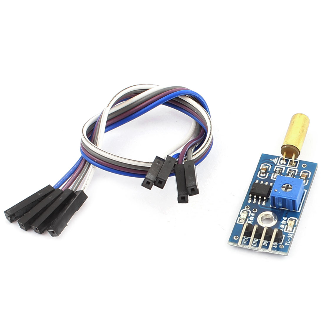 Printed Circuit Board 4 Pins 1CH Output Angle Sensor Module w Cable