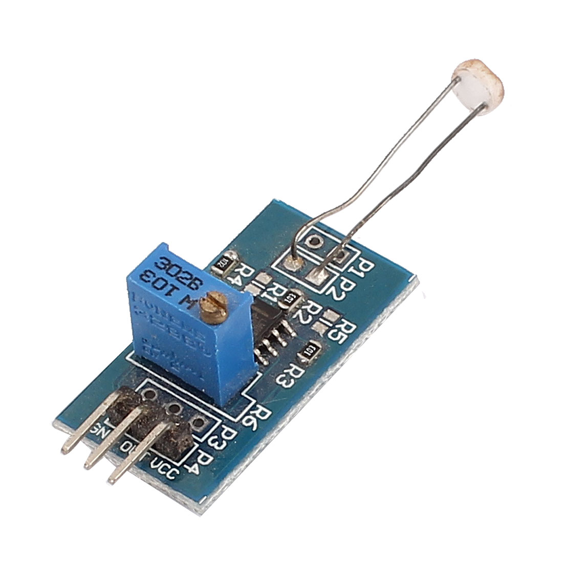 DC 3.3-5V 3 Terminals Light Detection Photosensitive Resistance Module