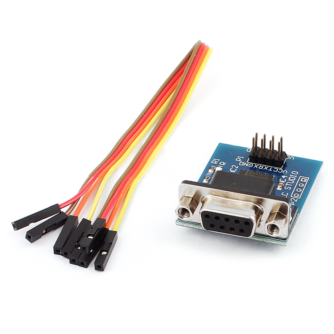 3.3V/5V MAX3232 RS232 Serial to TTL Converter Module w 4 x Jump Wire