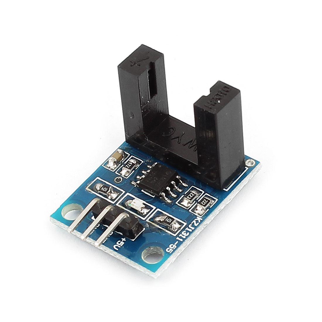 LM393 Beam Infrared Photoelectric Velometer Sensor Module Black DC 5V