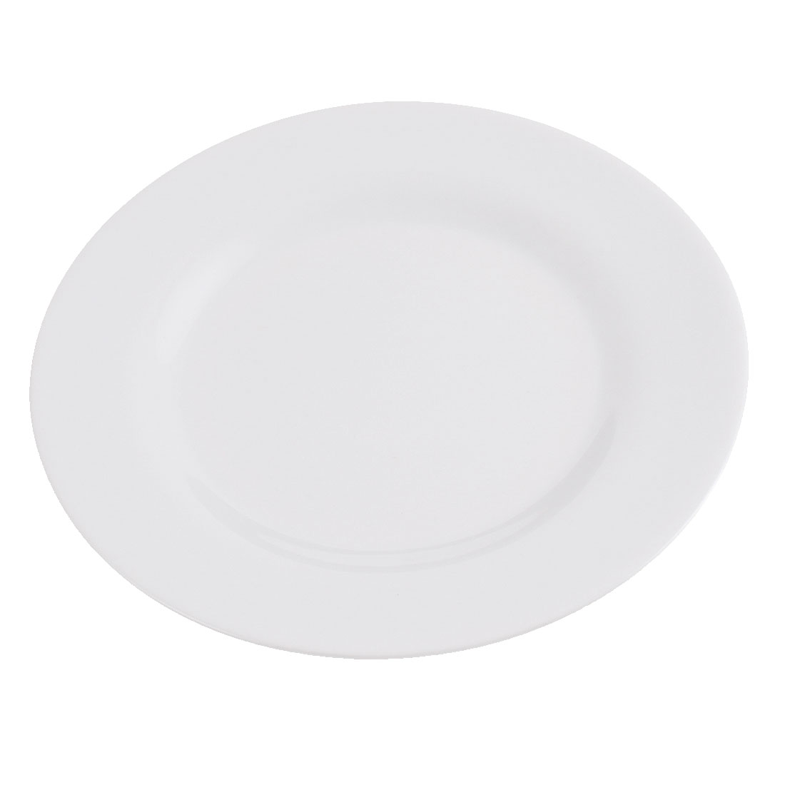 Plastic Round Shape Dinner Food Dessert Plate Dish 6 Inch Dia White