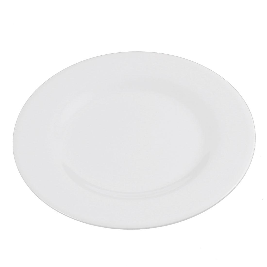 Kitchen Round Shape Dinner Food Dessert Plate Dish 7 Inch Dia White