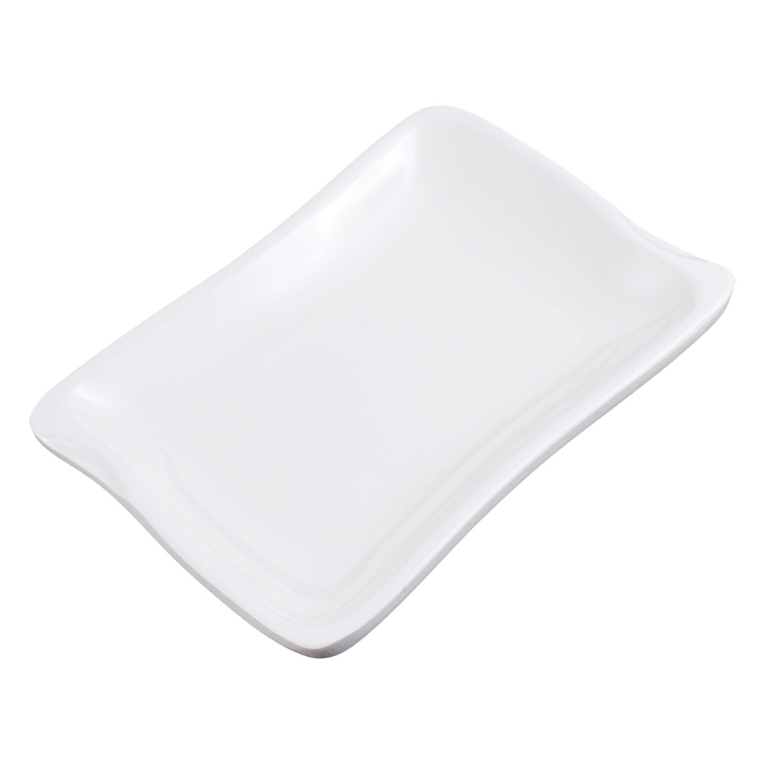 Rectangle Soy Sauce Dipping Sushi Mini Dish Plate 5.5 Inch Length White