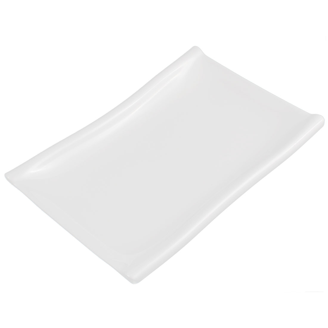 Restaurant Rectangle Shaped Dessert Food Appetizer Serving Plate Dish White