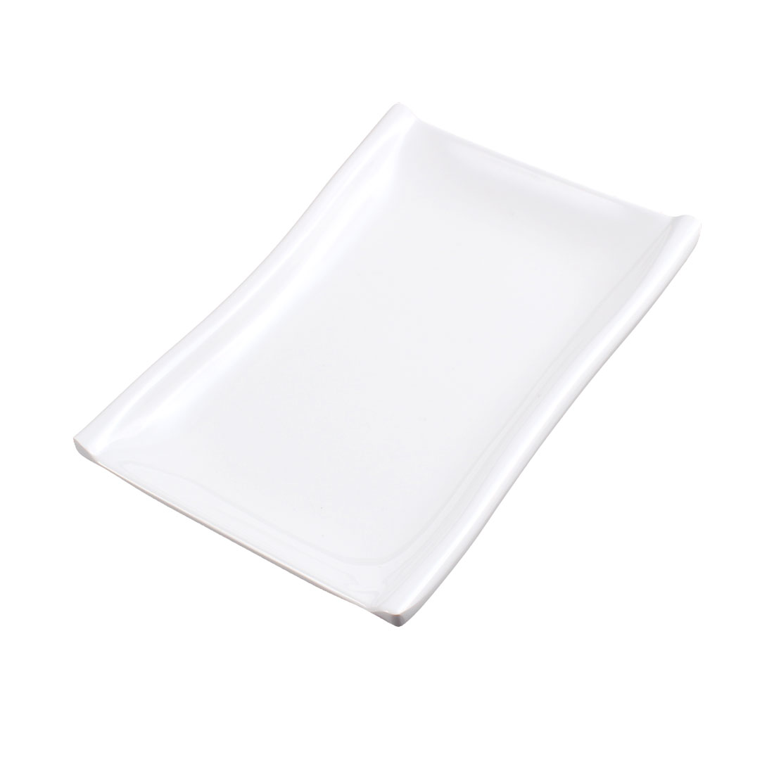 Rectangle Soy Sauce Dipping Sushi Mini Dish Plate 17cm x 12cm White