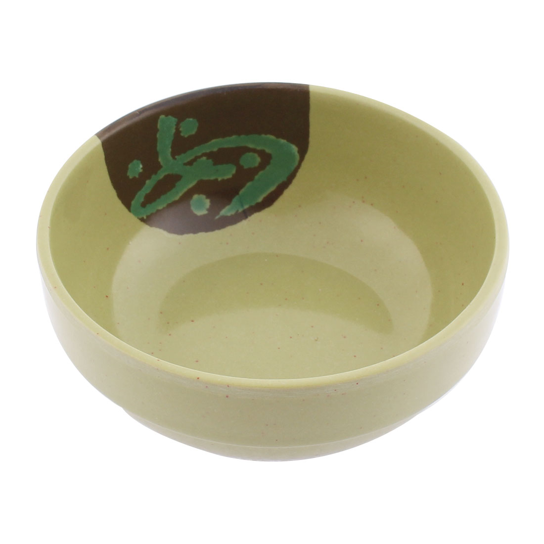 Plastic Character Pattern Soup Porridge Rice Bowl Olive Green 11cm Dia