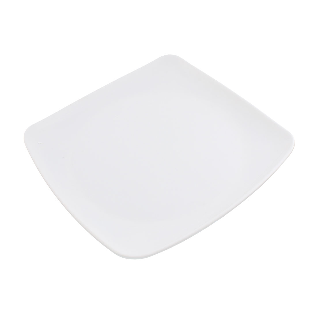 Square Shape Food Sushi Meat Plate Dish Container 24cm Length White