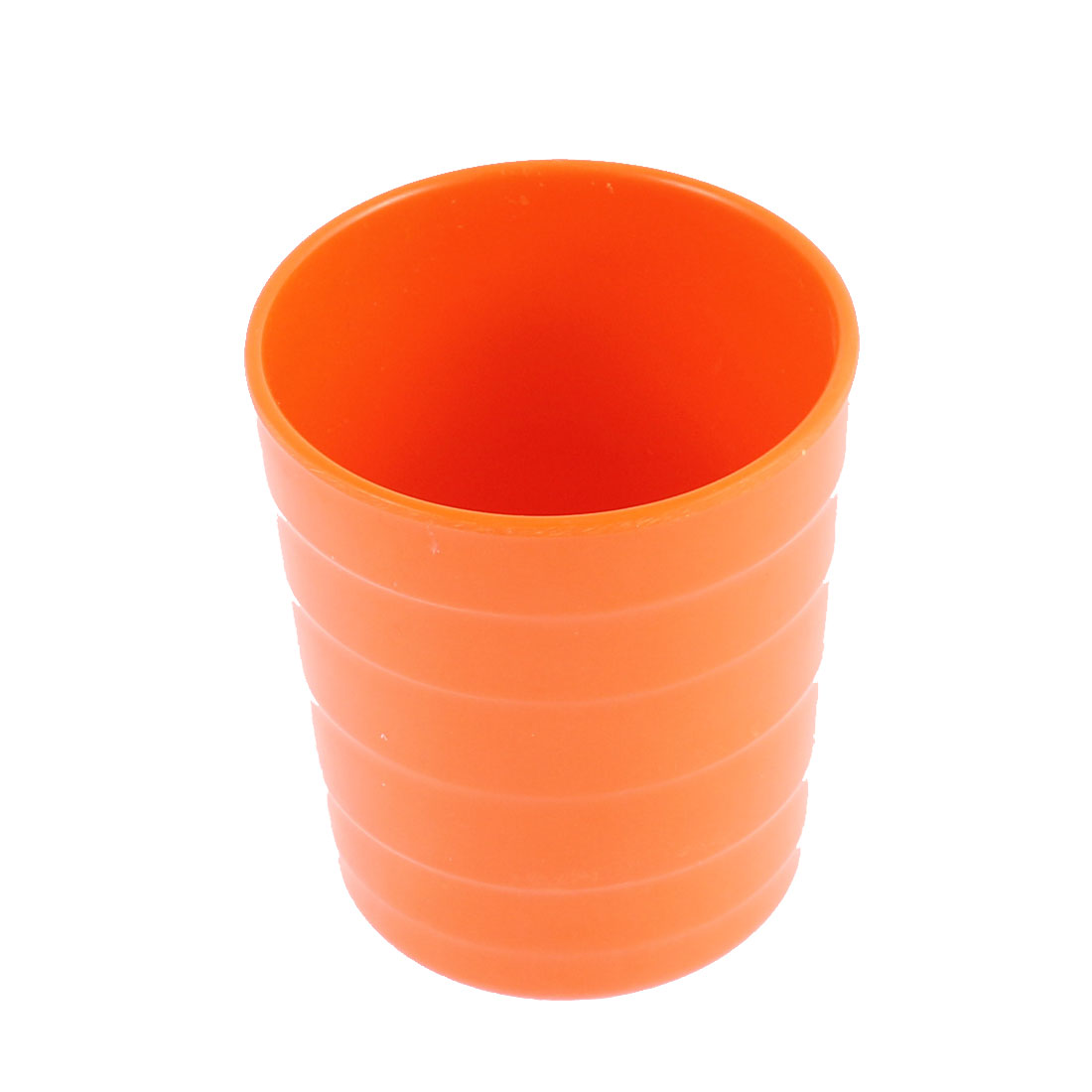 Home Restaurant Plastic Cylinder Shaped Water Tea Drinking Cup Orangered 8cm Height
