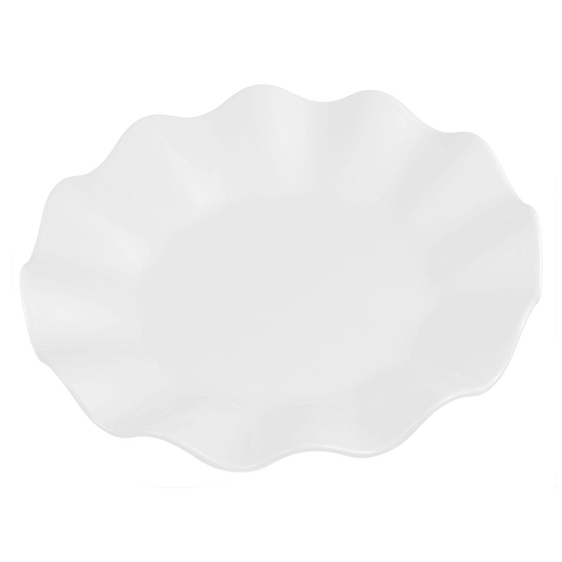 Restaurant Wavy Edge Pastry Appetizer Dessert Dish Plate White 16cm Dia
