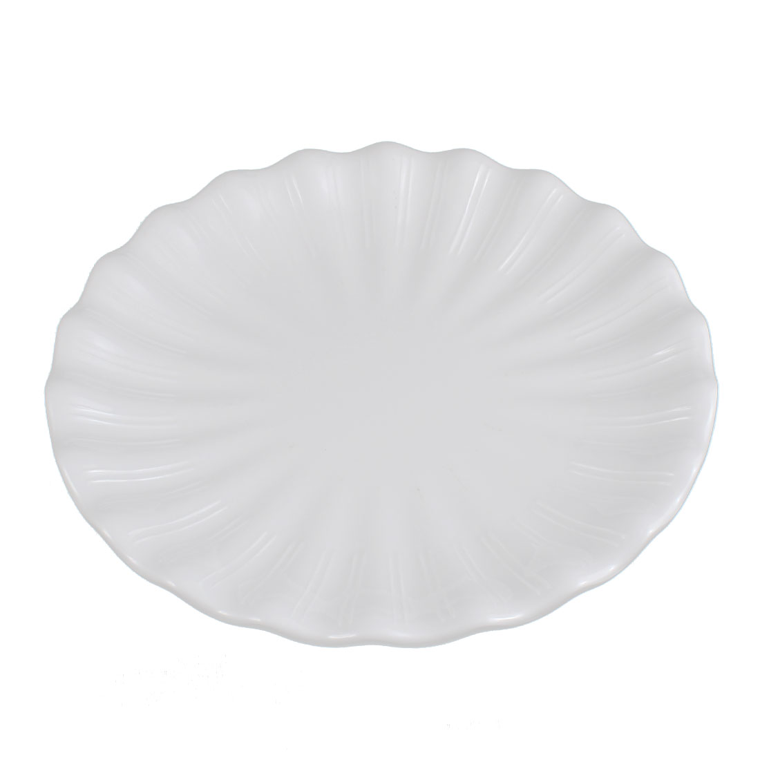 Restaurant Wavy Edge Pastry Appetizer Dessert Food Lunch Dish Plate 20cm Dia