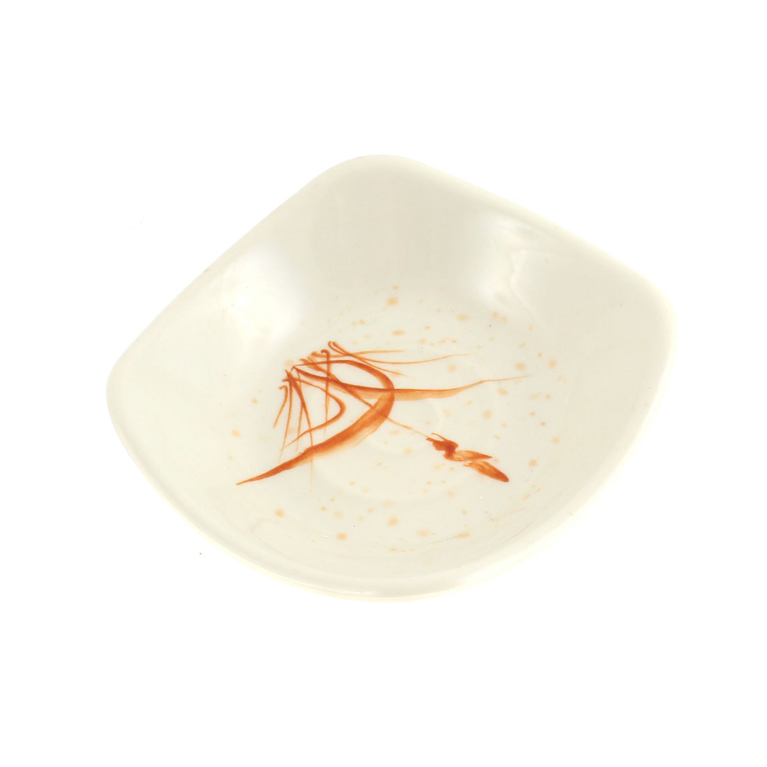 Square Grass Pattern Soy Sauce Dipping Sushi Mini Dish Plate 115mm Length