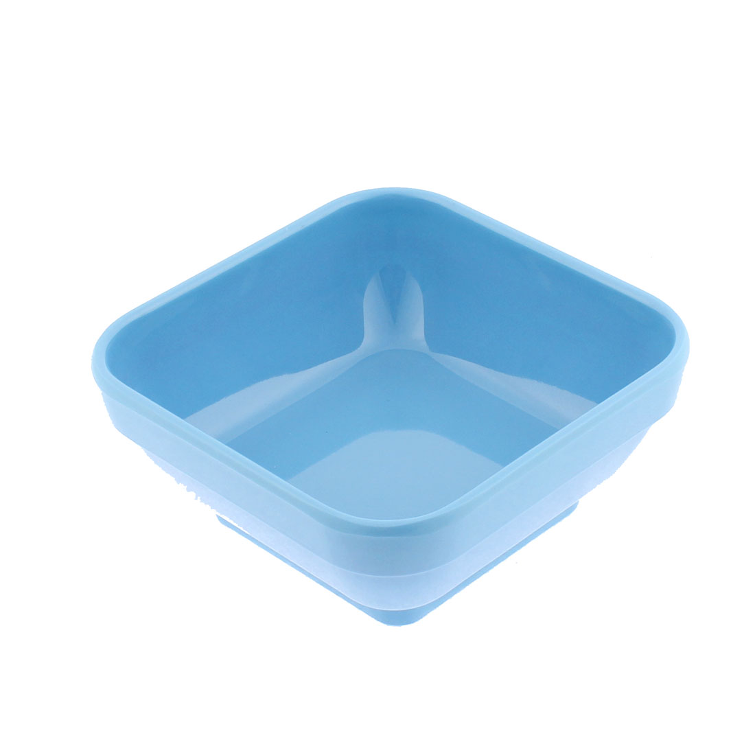 Kitchen Plastic Square Shaped Dessert Food Soup Serving Bowl Light Blue 12 x 12cm