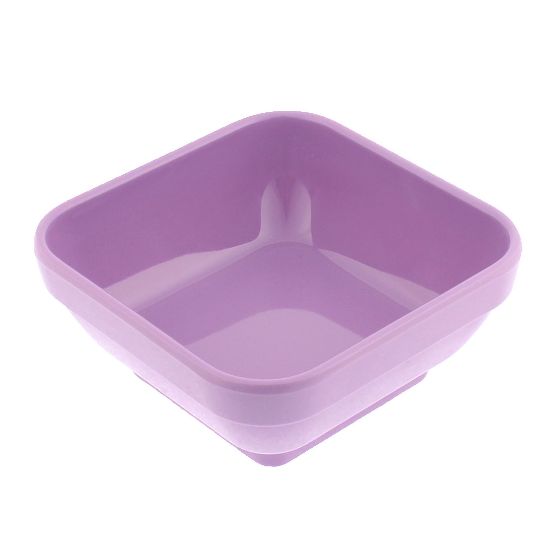 Kitchen Plastic Square Shaped Dessert Food Soup Porridge Congee Bowl Purple