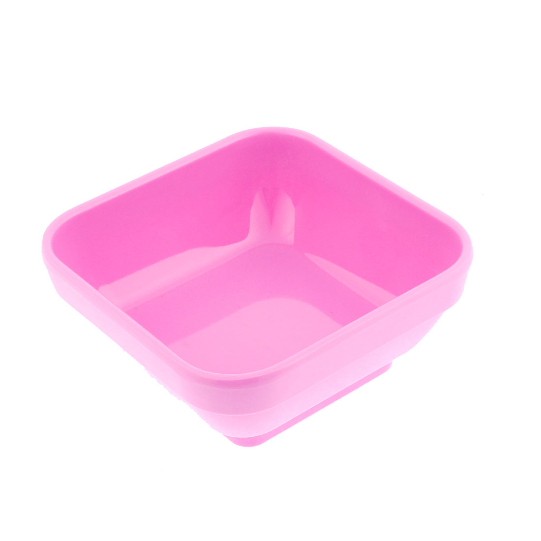 Restaurant Plastic Square Shaped Dessert Food Rice Soup Conjee Bowl Pink