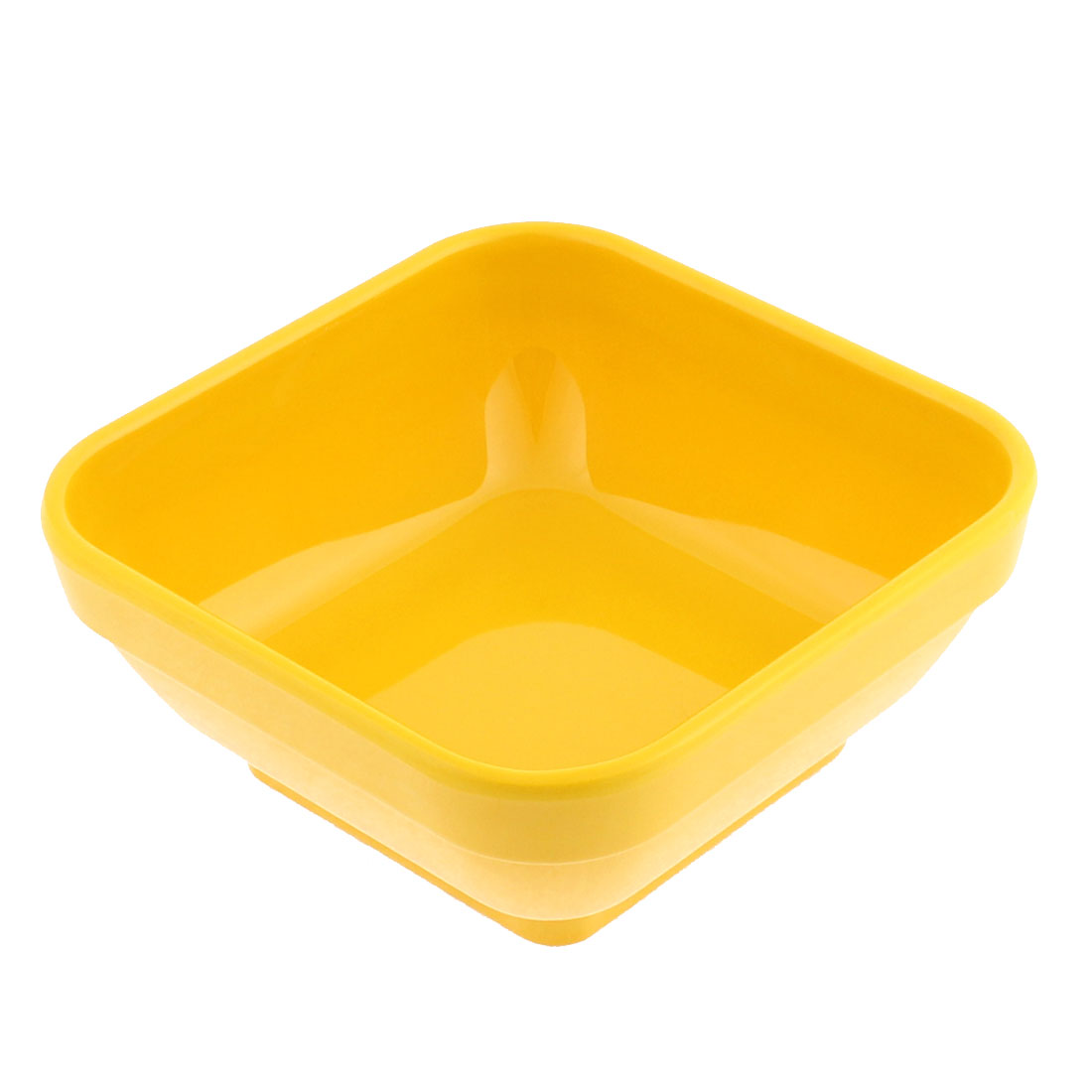 Kitchen Plastic Square Shaped Dessert Food Soup Fruit Porridge Bowl Yellow