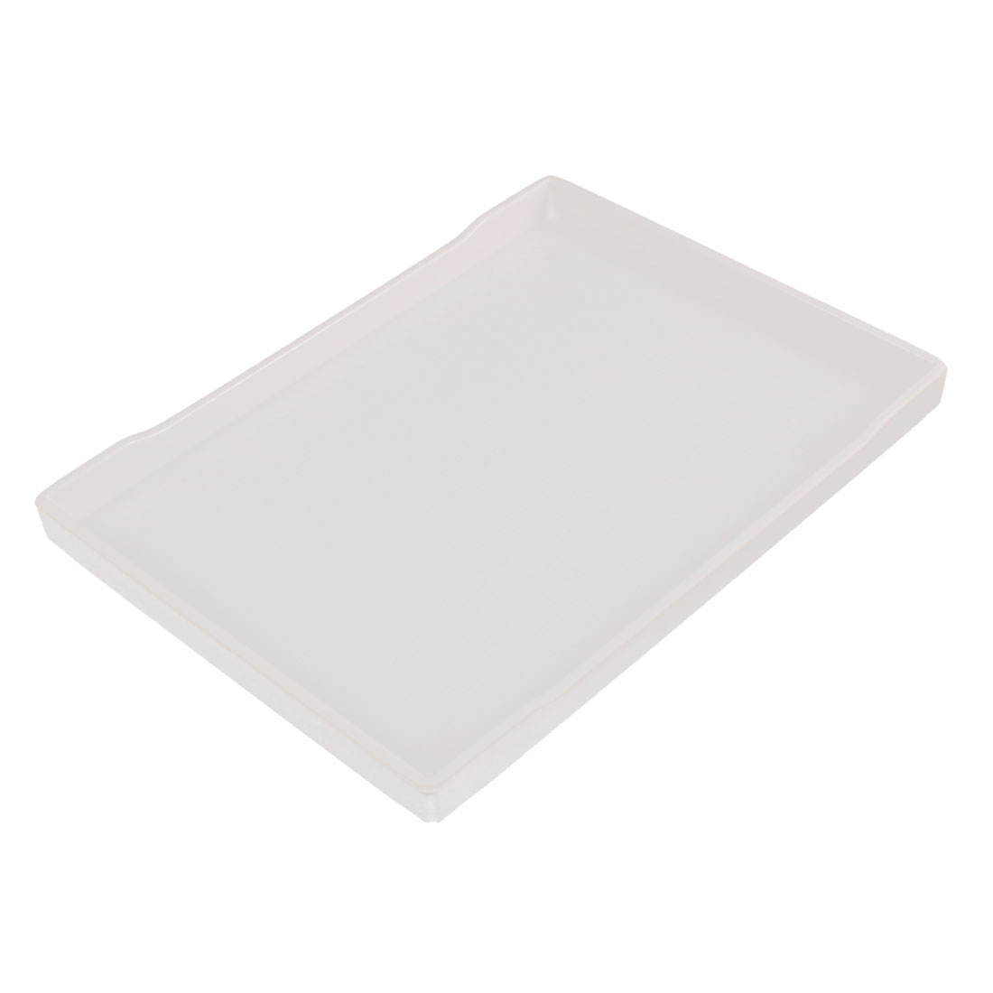 Restaurant Plastic Fast Food Dinner Dessert Vegetable Serving Tray Off White