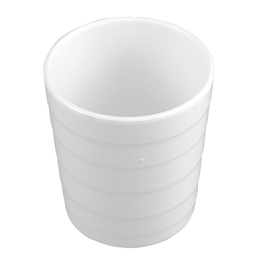 Restaurant Coffee Shop Cylinder Design Water Tea Drinking Cup White