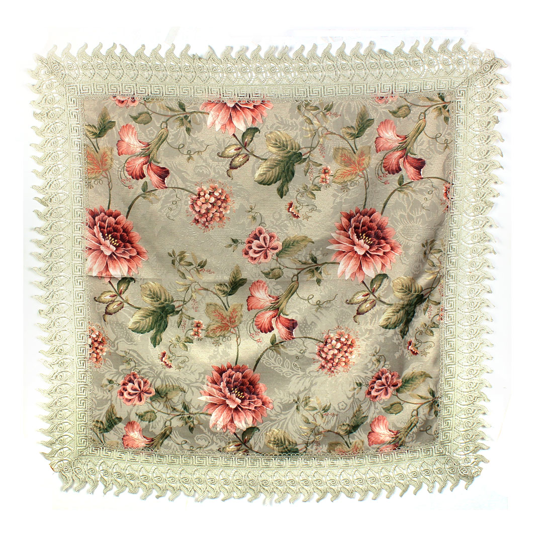 Square Shape Flower Pattern TV Computer Cover Television Cloth