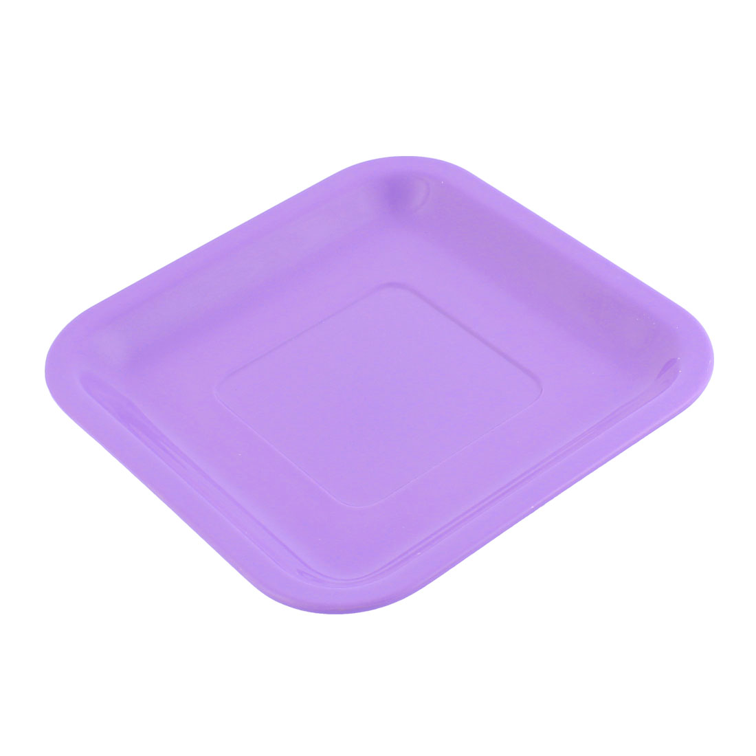 Home Restaurant Plastic Square Shaped Lunch Food Fruit Dish Plate Tray Purple