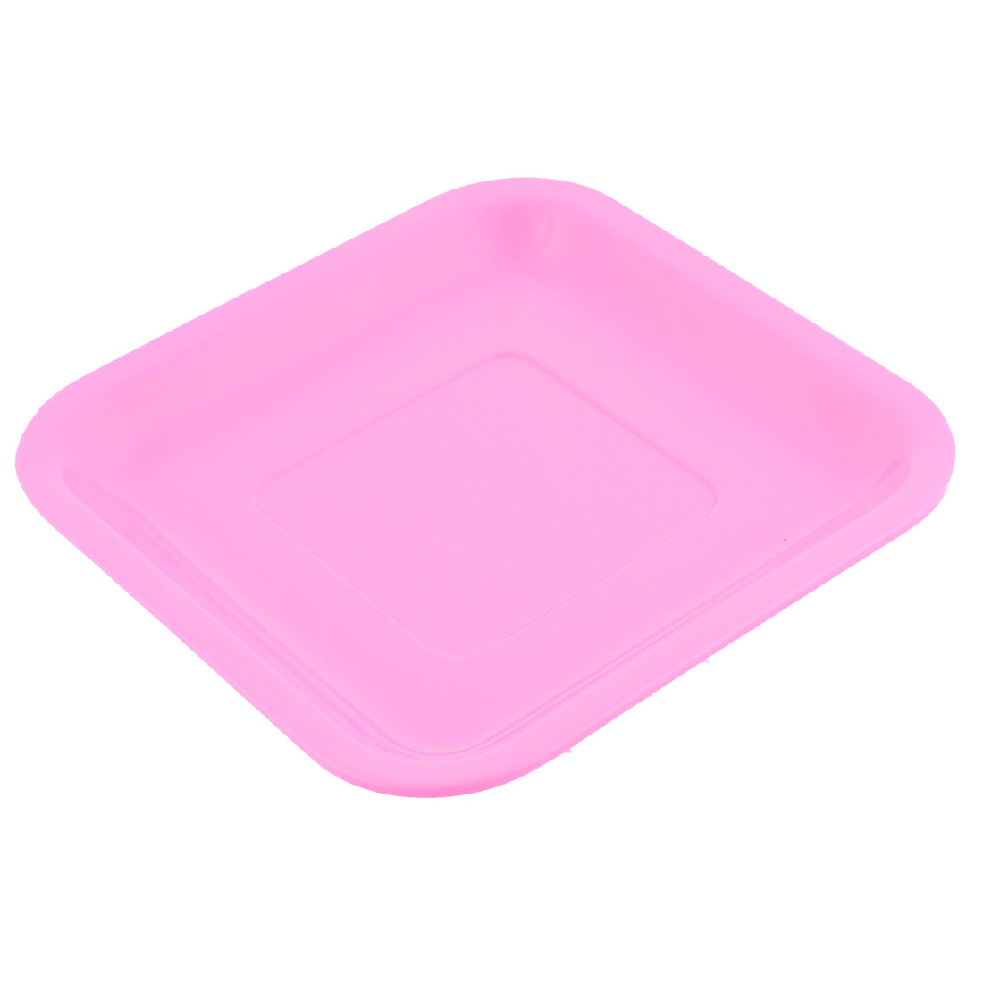 Restaurant Square Shaped Dinner Dessert Appetizer Plate Dish Tray Pink