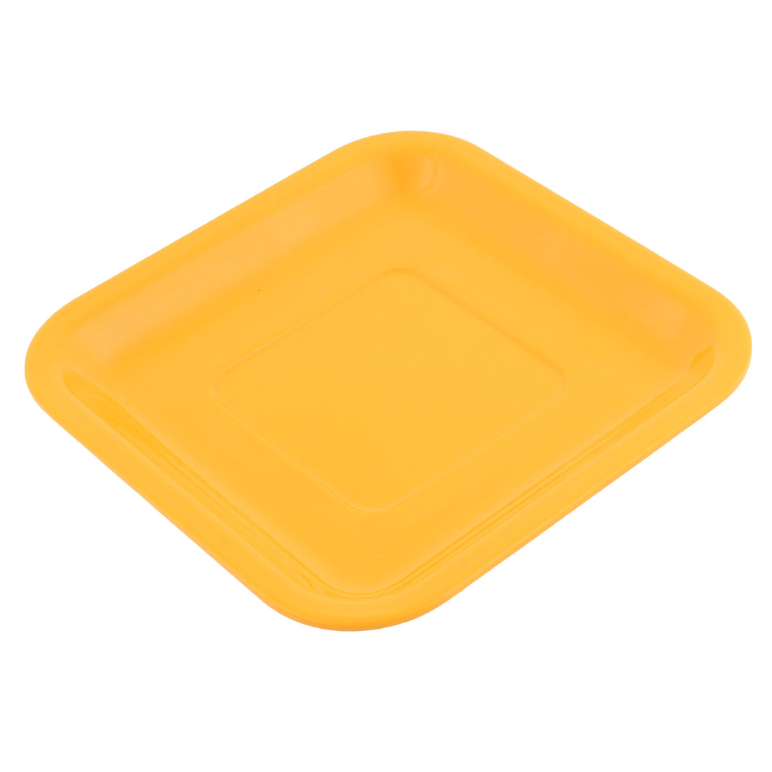 Square Design Dinner Dessert Vermicelli Plate Dish Container 15.5 x 15.5cm