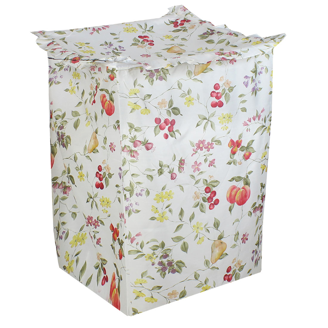 Polyester Flower Print Zipper Closure Washing Machine Dust Guard Cover