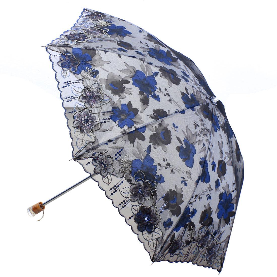 Outdoor Travel Telescopic Shaft Foldable Umbrella 34 Inch Dia