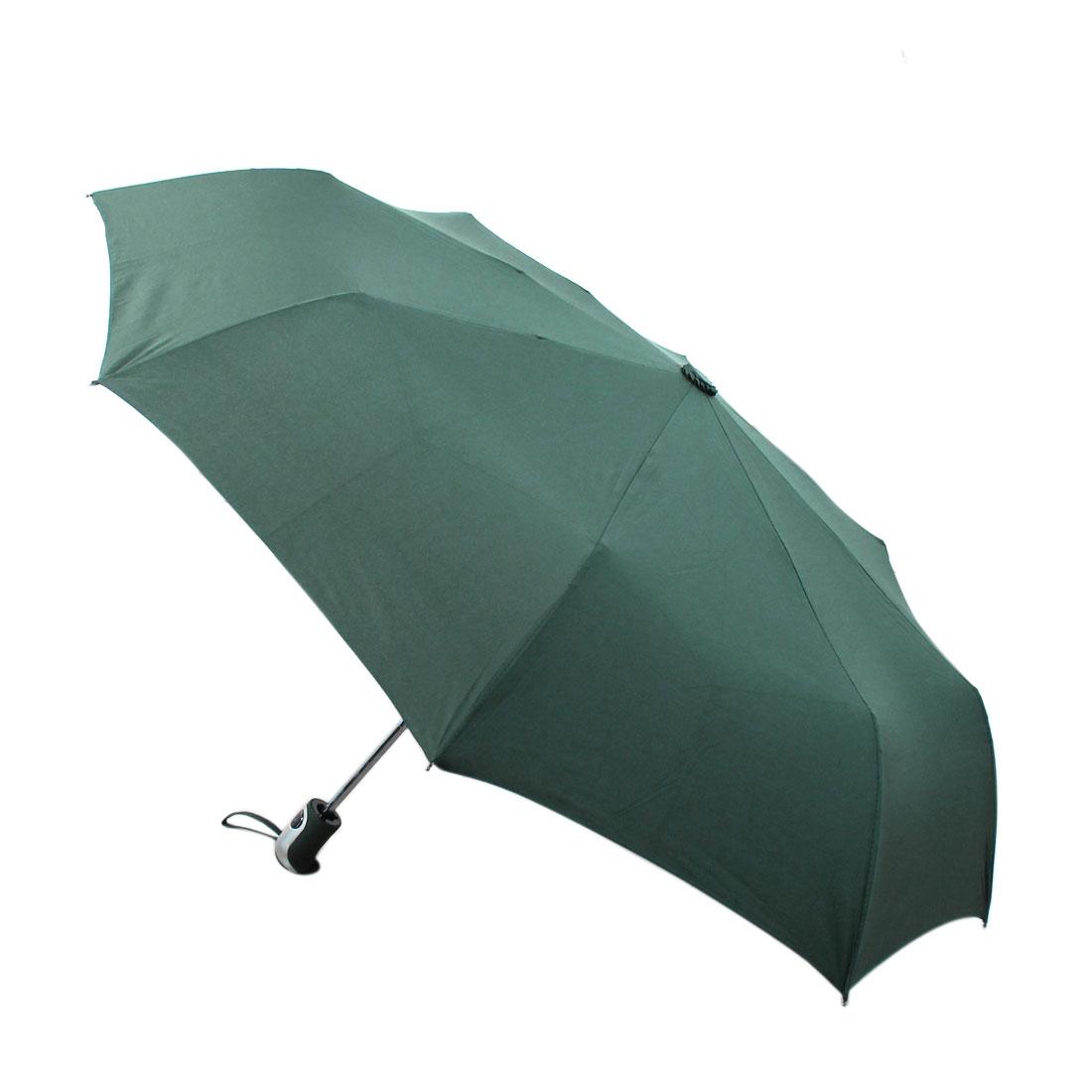 Automatic Open Close Folding Compact Umbrella 97cm Dia Green